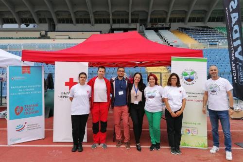 Екипите на Сдружението, БЧК и Регистъра за донори на стволови клетки